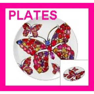 Plates - Melamine Party Plates, Gifts, Wall Decor