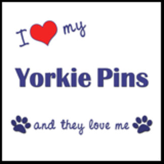 I Love My Yorkie Pins (Multiple Dogs)