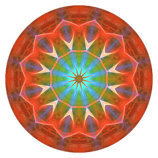Dreamsicle Peach Gemstone Abstract Modern Mandala