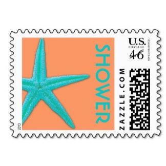 ♥ Shower Postage Stamps