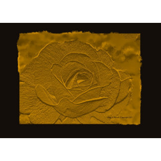Gold and Black Emboss Look Rose