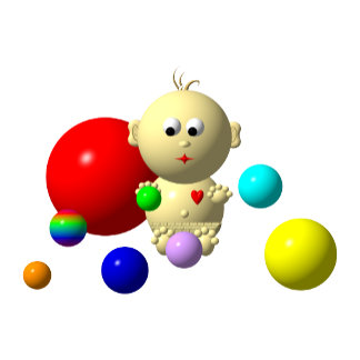 08: BABIES WITH 8 TOY BALLS