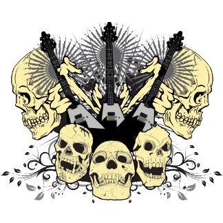 Three Guitars and Skulls