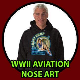 WWII Aviation Nose Art T-shirts