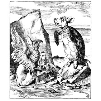 Alice, the Gryphon and the Mock Turtle