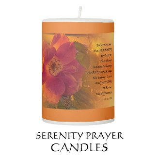 Serenity Prayer Candles