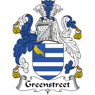 Greenstreet Family Crest / Coat of Arms
