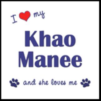 I Love My Khao Manee (Female Cat)