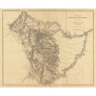 Map of the Black Hills of Dakota