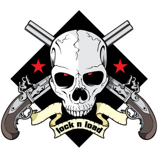 Lock n Load Skull