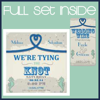 Blue Nautical Tying the Knot Wedding Collection