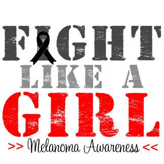 Fight Like a Girl Distressed - Melanoma