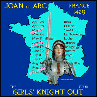 Joan of Arc Girls Knight Out Tour