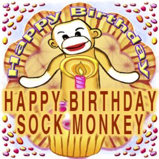 Happy Birthday Sock Monkey