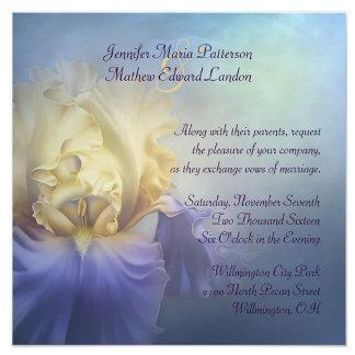 Purple and Yellow Iris Wedding Set