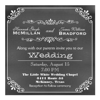 Typography Chalkboard Wedding Products
