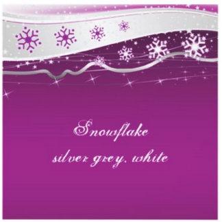 Snowflake on silver grey, white