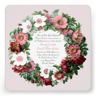 Vintage Old Roses Wreath Wedding Products