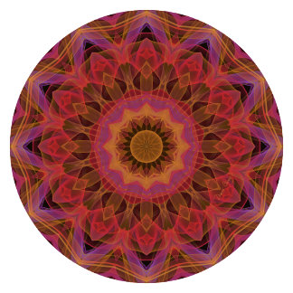 Campfire Dancing Mandala Modern Abstract Peach