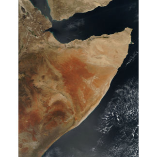 Satellite view of the Horn of Africa