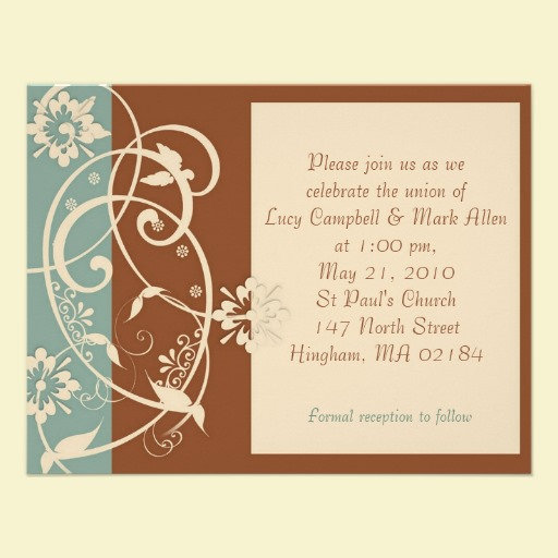 Modern Brown and Blue Floral Series