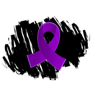 Fibromyalgia Purple Ribbon With Scribble