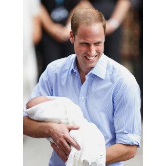 Prince William Holding Newborn Son 2