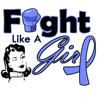 Stomach Cancer Fight Like A Girl - Retro Girl
