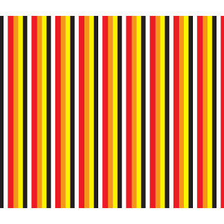 RED black and yellow stripes pattern