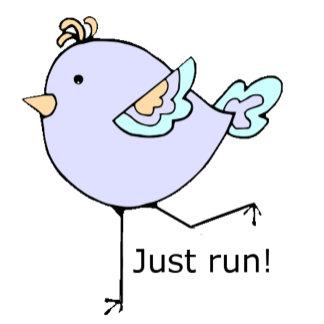 running chick