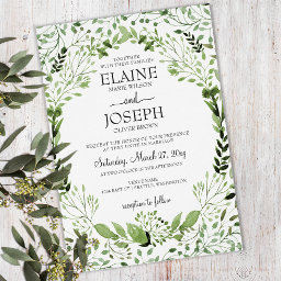 Glam Greenery Botanical Wedding Invitations Suite