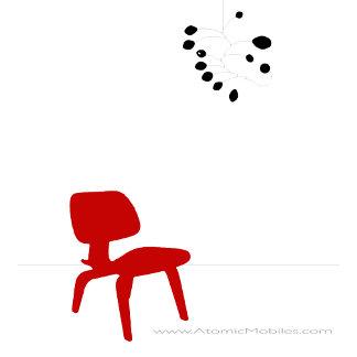 Red Eames Modern Chair