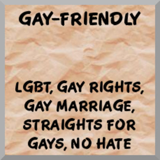 Gay-friendly, gay marriage