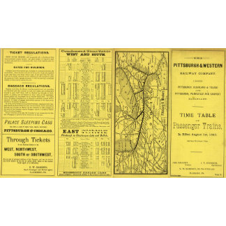 Map of Pittsburgh and Western Railway