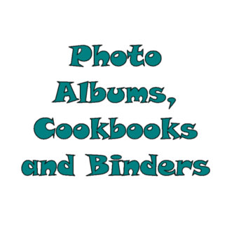 Photo Albums, Cookbooks and Binders