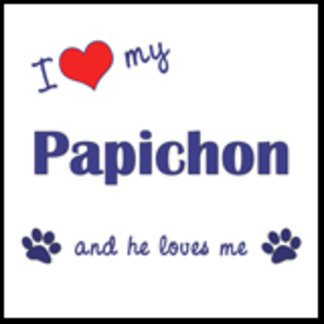 I Love My Papichon (Male Dog)