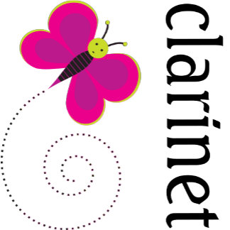 Clarinet Butterfly Tees