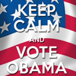 keep calm and vote obama