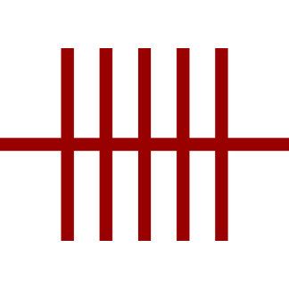 5 Bisected Red Lines