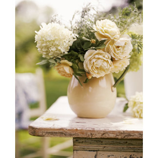 """""""bouquet in pitcher on table poster print"""""""