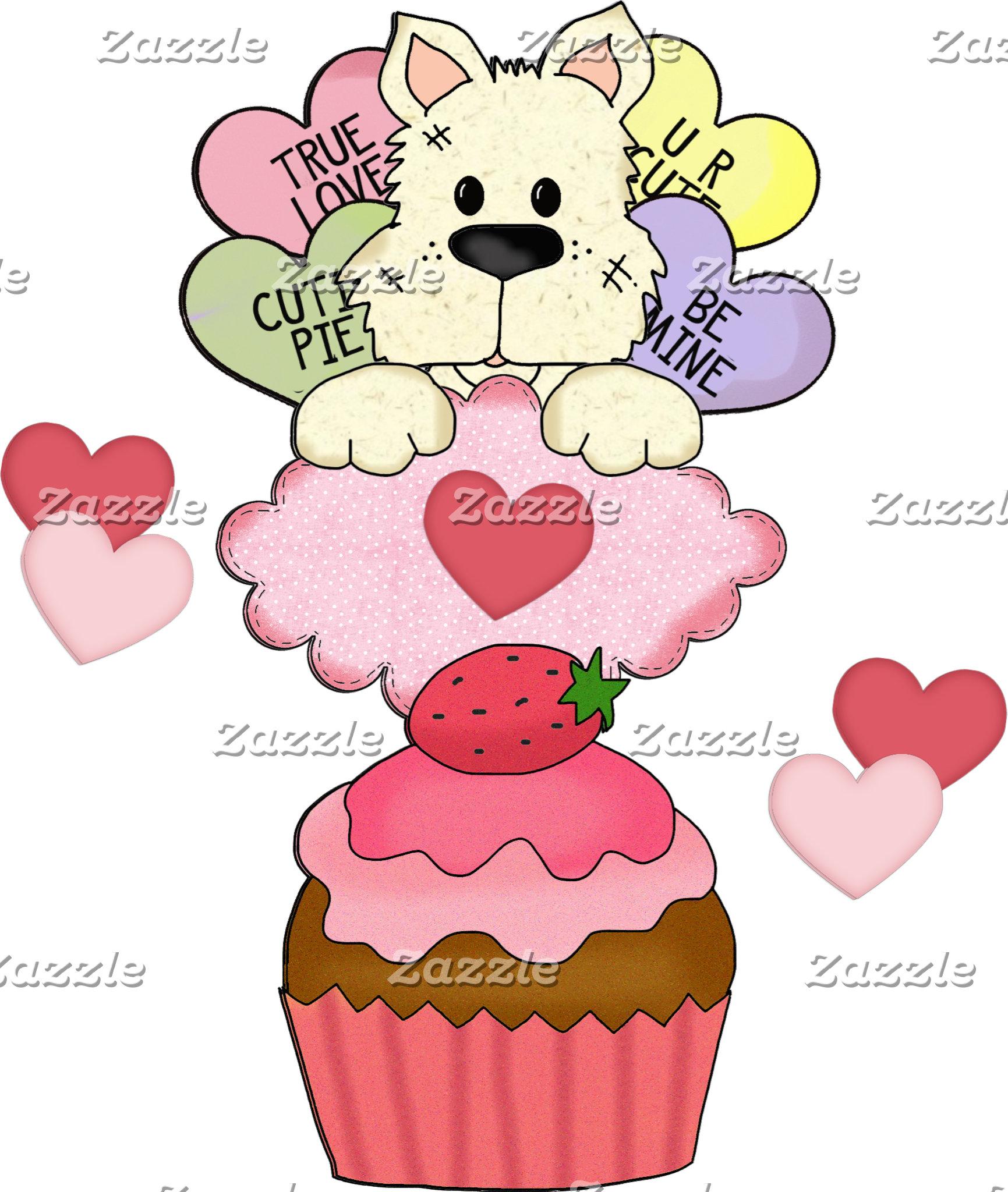 Puppy Cupcake Valentines