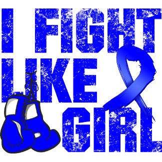Rectal Cancer I Fight Like A Girl (Grunge)