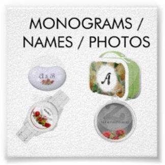 MONOGRAMS/NAMES/PHOTOS
