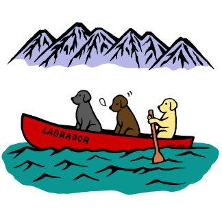 Canoeing Labrador Retrievers
