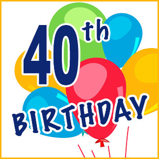 40th Birthday Gifts and T-shirts for 40 Yr Olds