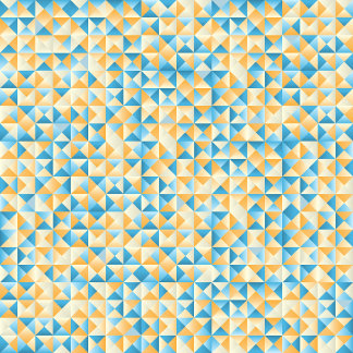 Mosaic in blue and orange