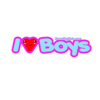 I love Boys cute Kawaii heart t-shirts & more