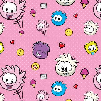 Pink Puffle Pattern