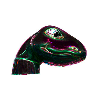 Dino Head Abstract Neon