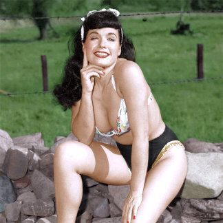 Bettie Page Vintage Color Pinup Girl
